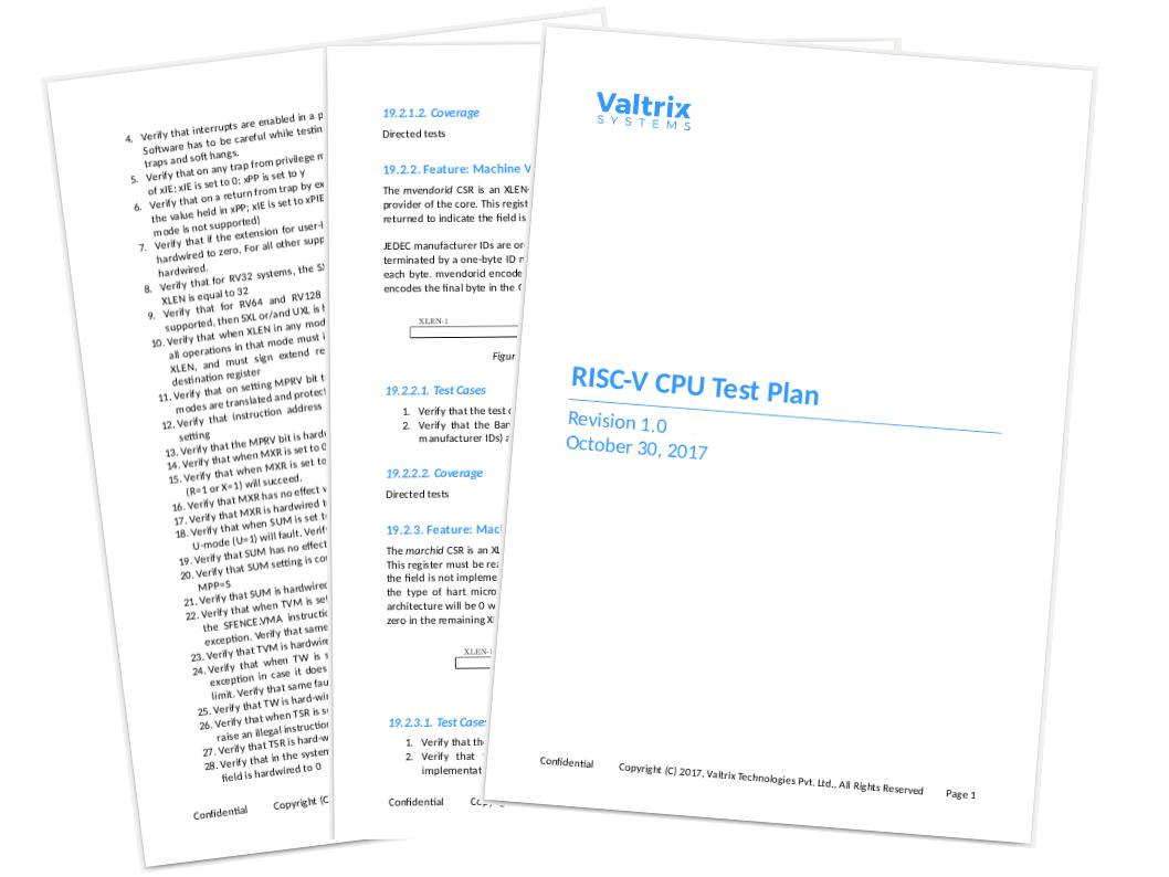 Test Plans for RISC-V CPU Specification - Valtrix Blog